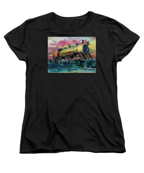 Vintage Women's T-Shirt (Standard Cut) featuring the photograph Steam Powered by Aaron Berg