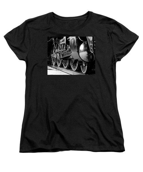 Women's T-Shirt (Standard Cut) featuring the photograph Steamer Up 844 Wheels by Bartz Johnson