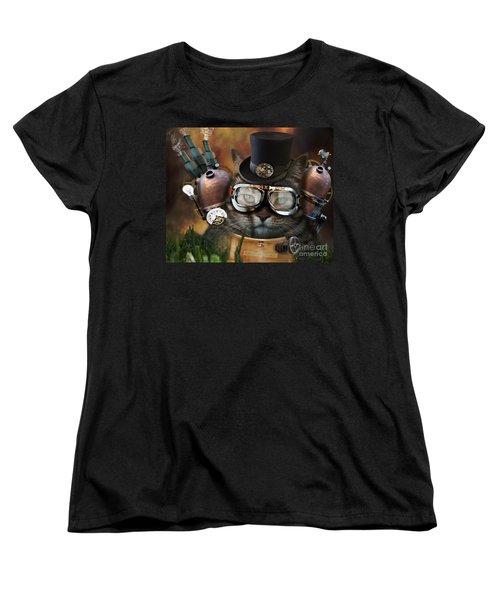 Steampunk Cat Women's T-Shirt (Standard Cut) by Juli Scalzi