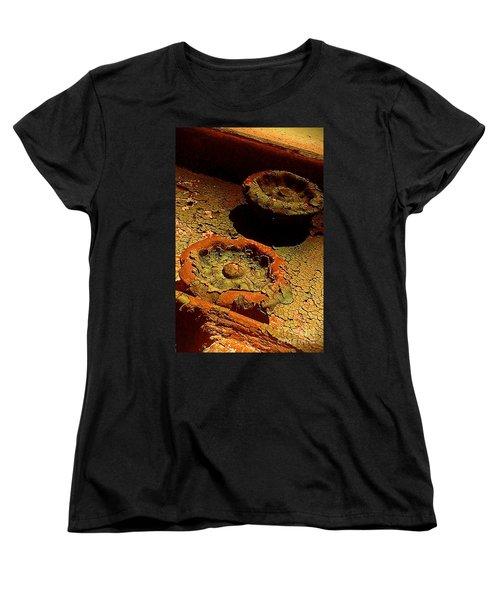 Women's T-Shirt (Standard Cut) featuring the photograph Steel Flowers by James Aiken
