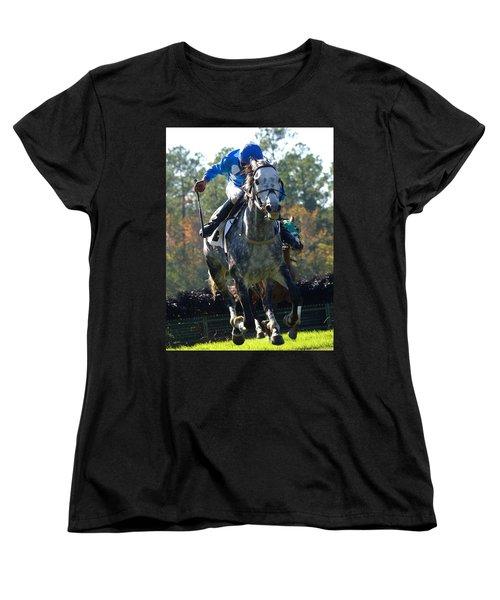 Women's T-Shirt (Standard Cut) featuring the photograph Steeplechase by Robert L Jackson