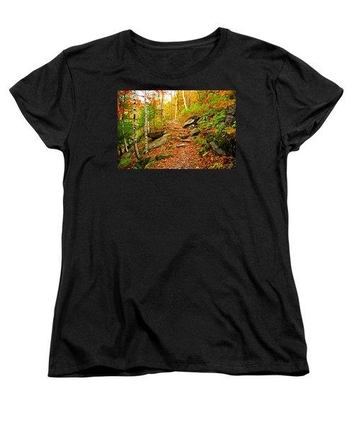 Women's T-Shirt (Standard Cut) featuring the photograph Stepping Stones by Bill Howard