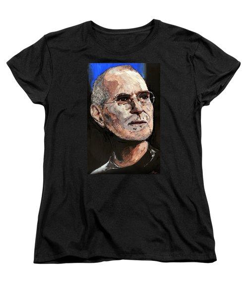 Women's T-Shirt (Standard Cut) featuring the painting Steven Paul Jobs by Gordon Dean II
