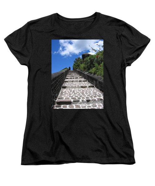 St.kitts - Ascent Women's T-Shirt (Standard Cut) by HEVi FineArt