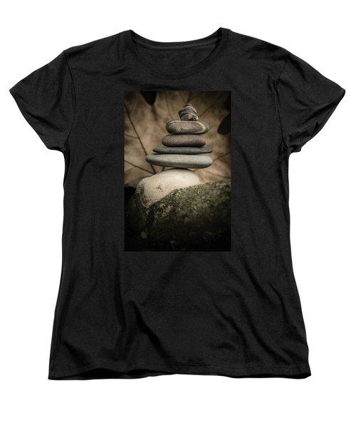 Stone Cairns Iv Women's T-Shirt (Standard Cut) by Marco Oliveira