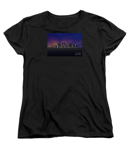 Women's T-Shirt (Standard Cut) featuring the photograph Stonehenge Looking Moody by Terri Waters