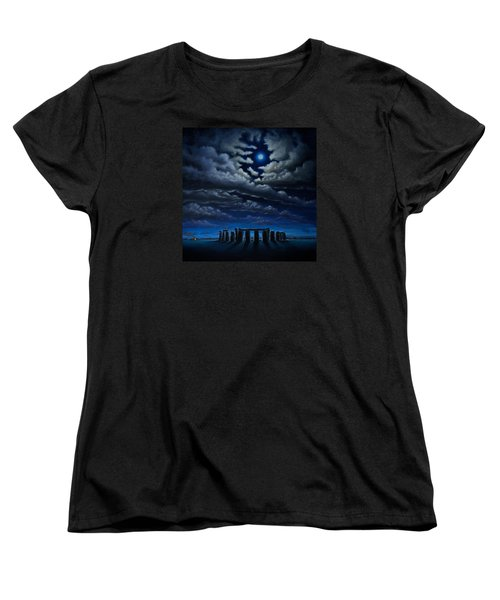 Stonehenge - The People's Circle Women's T-Shirt (Standard Cut) by Ric Nagualero