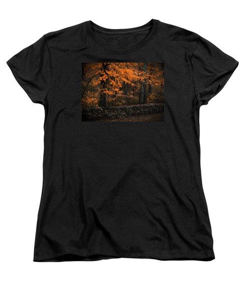 Stonewall In Autumn Women's T-Shirt (Standard Cut) by GJ Blackman