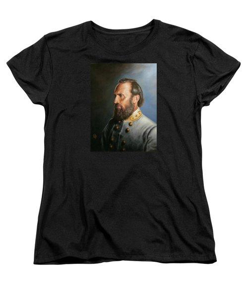 Women's T-Shirt (Standard Cut) featuring the painting Stonewall Jackson by Glenn Beasley