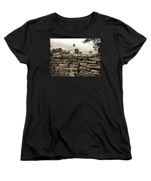 Stony Point Lighthouse Women's T-Shirt (Standard Cut) by Tony Cooper