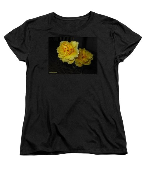 Stop And Smell The Roses Women's T-Shirt (Standard Cut) by Joyce Dickens