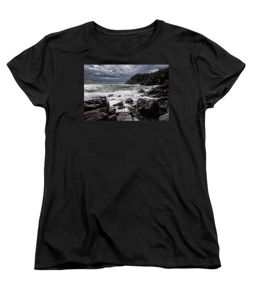 Storm At Gulliver's Hole Women's T-Shirt (Standard Cut) by Marty Saccone