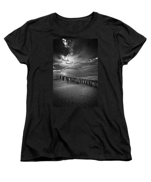 Storm Over Naples Florida Beach Women's T-Shirt (Standard Cut)