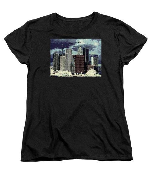 stormy Los Angeles from the freeway Women's T-Shirt (Standard Cut) by Jodie Marie Anne Richardson Traugott          aka jm-ART