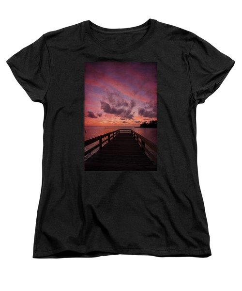 Stormy Sunset Women's T-Shirt (Standard Cut) by Beverly Stapleton