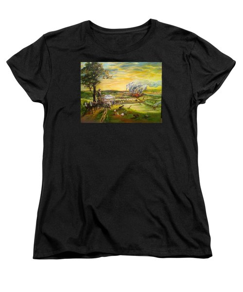 Story2 Women's T-Shirt (Standard Cut) by Mary Ellen Anderson