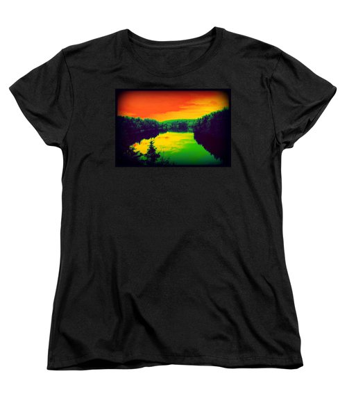 Strange River Scene Women's T-Shirt (Standard Cut) by Jason Lees