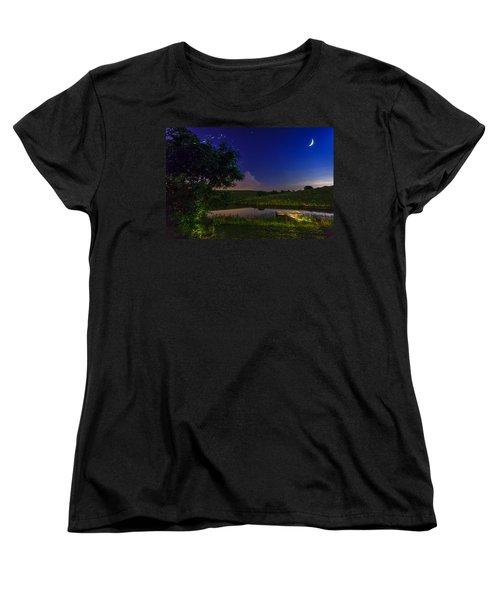 Strangers In The Night Women's T-Shirt (Standard Cut) by Alexey Stiop