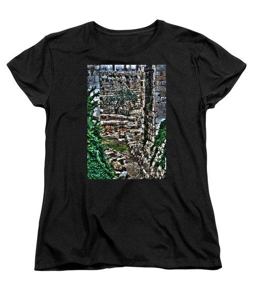 Women's T-Shirt (Standard Cut) featuring the photograph Street In Jerusalem by Doc Braham
