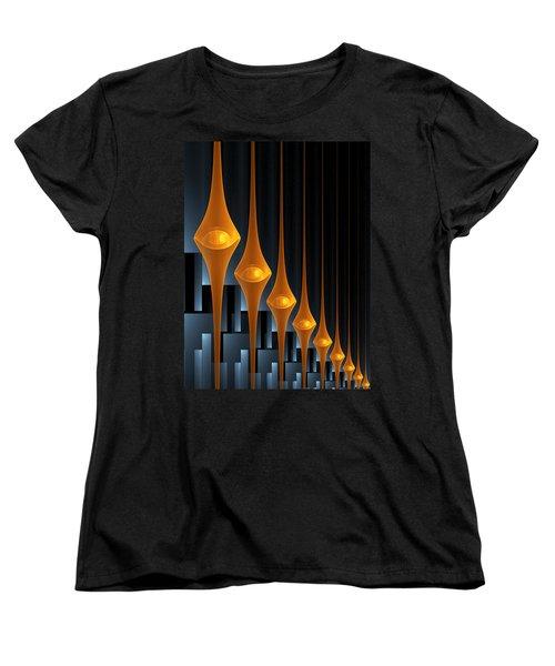 Women's T-Shirt (Standard Cut) featuring the digital art Street Lights by Gabiw Art