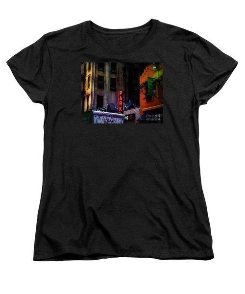 Women's T-Shirt (Standard Cut) featuring the photograph Graffiti And Grand Old Buildings by Miriam Danar