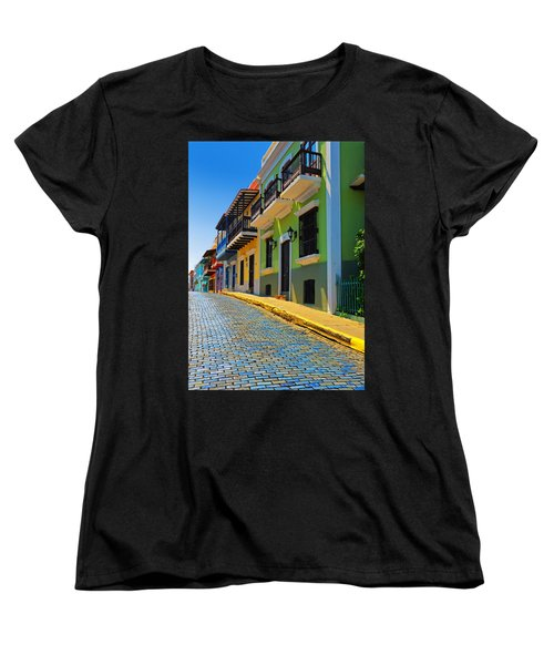 Streets Of Old San Juan Women's T-Shirt (Standard Cut) by Stephen Anderson