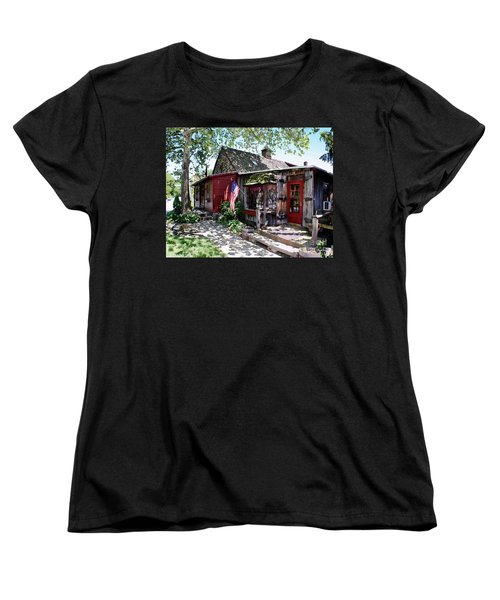 Women's T-Shirt (Standard Cut) featuring the photograph Strode Mill West Chester Pa by Polly Peacock