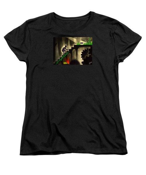 Life's Struggle Women's T-Shirt (Standard Cut) by Salman Ravish