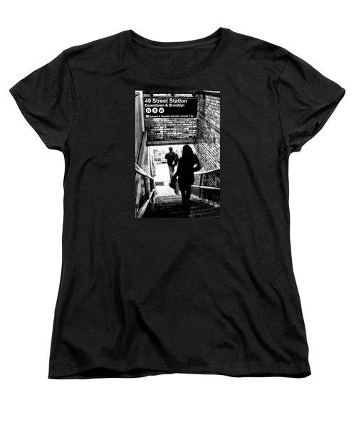 Subway Shadows Women's T-Shirt (Standard Cut) by Karol Livote