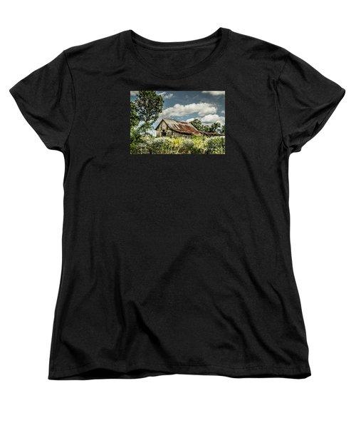 Women's T-Shirt (Standard Cut) featuring the photograph Summer Barn by Debbie Green