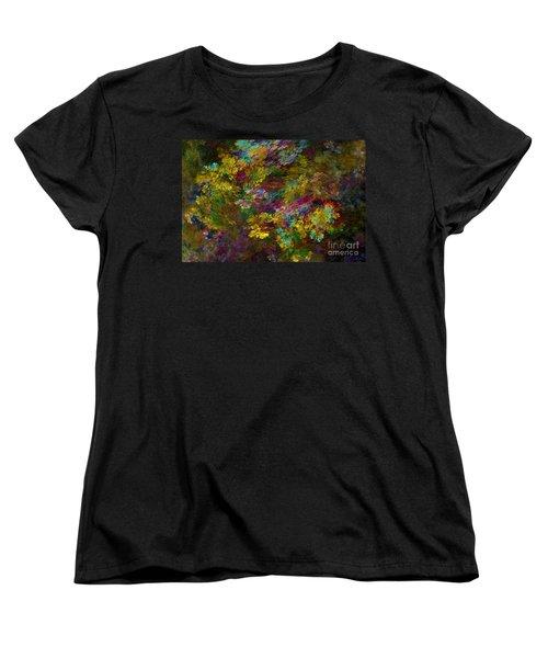 Women's T-Shirt (Standard Cut) featuring the digital art Summer Burst by Olga Hamilton
