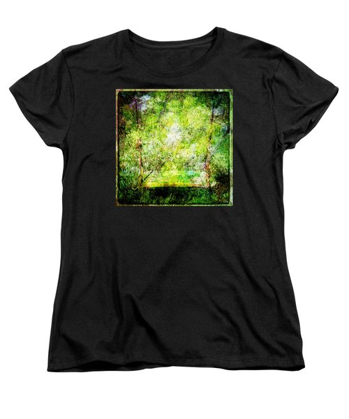 Women's T-Shirt (Standard Cut) featuring the mixed media Summer Days Of Yore #1 by Sandy MacGowan