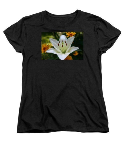 Summer Lily Women's T-Shirt (Standard Cut) by Denyse Duhaime