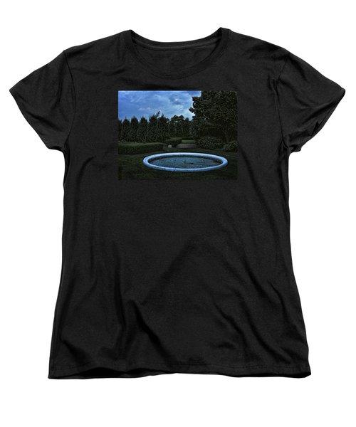 Summer Storm Coming Bahai Temple Women's T-Shirt (Standard Cut) by John Hansen