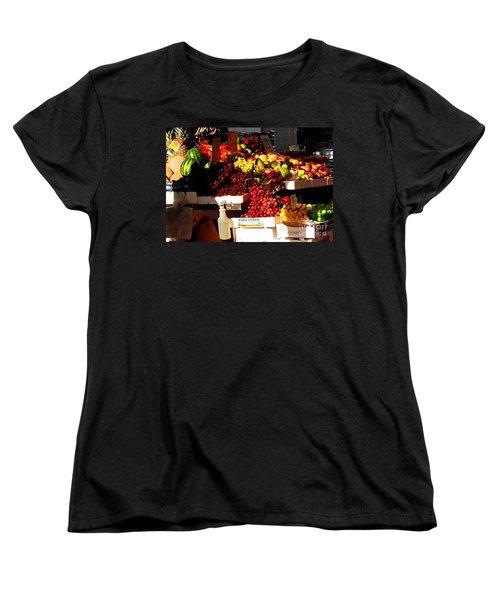 Sun On Fruit Close Up Women's T-Shirt (Standard Cut) by Miriam Danar