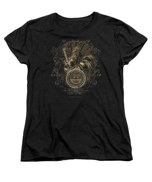 Sun - Scroll Around Rooster Women's T-Shirt (Standard Cut) by Brand A