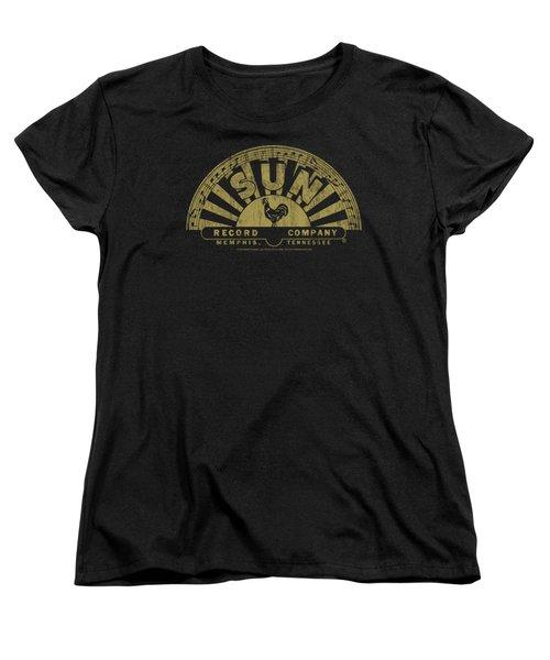 Sun - Tattered Logo Women's T-Shirt (Standard Cut) by Brand A