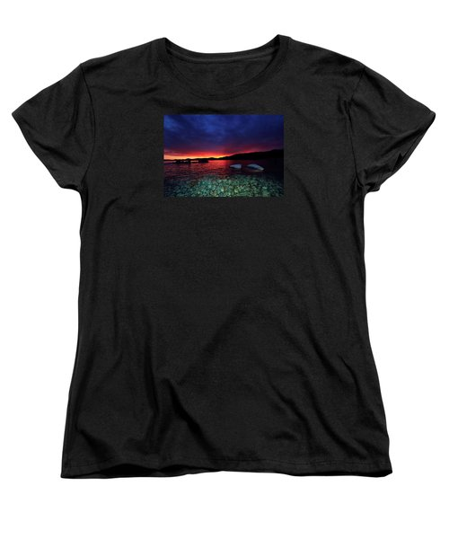 Women's T-Shirt (Standard Cut) featuring the photograph Sundown In Lake Tahoe by Sean Sarsfield