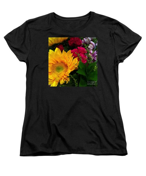Sunflower Reflections Women's T-Shirt (Standard Cut) by Meghan at FireBonnet Art