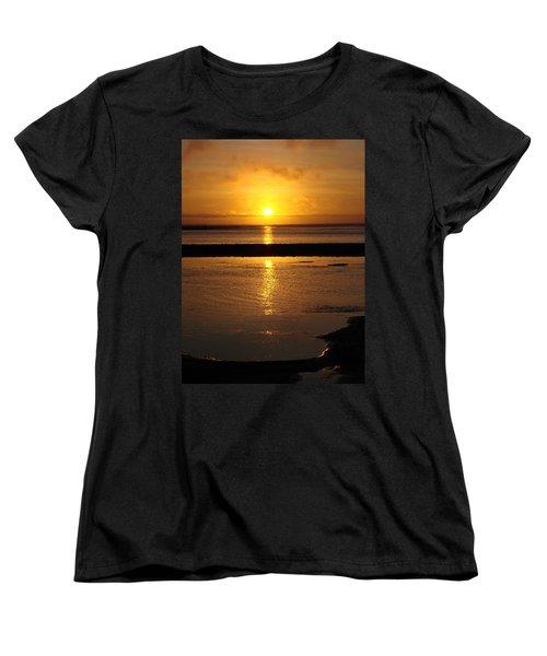 Women's T-Shirt (Standard Cut) featuring the photograph Sunkist Sunset by Athena Mckinzie