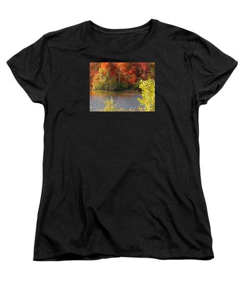 Women's T-Shirt (Standard Cut) featuring the photograph Sunlit Autumn by Ann Horn