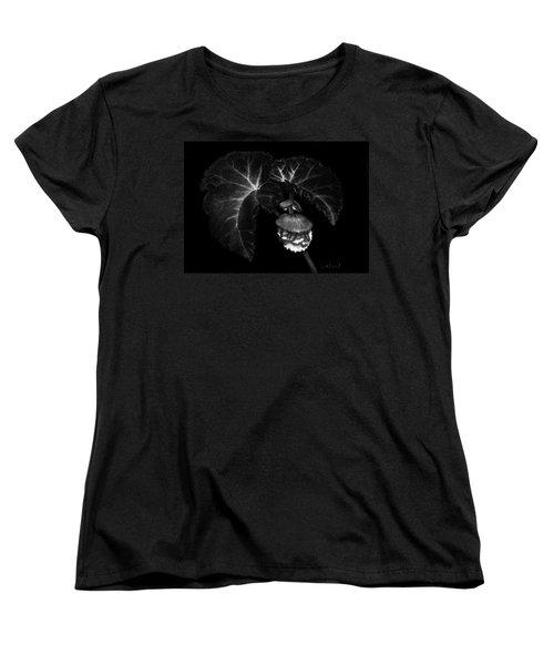 Sunlit Begonia Women's T-Shirt (Standard Cut) by Sandra LaFaut