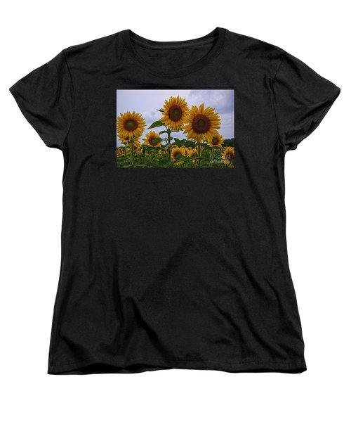 Women's T-Shirt (Standard Cut) featuring the photograph Sunny Faces by Debra Fedchin