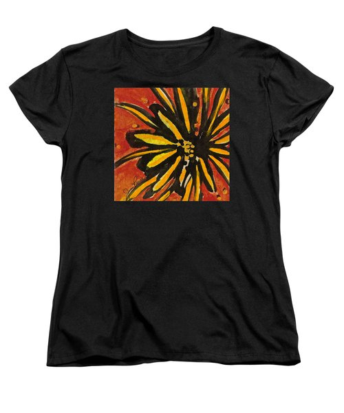 Women's T-Shirt (Standard Cut) featuring the painting Sunny Hues Watercolor by Joan Reese