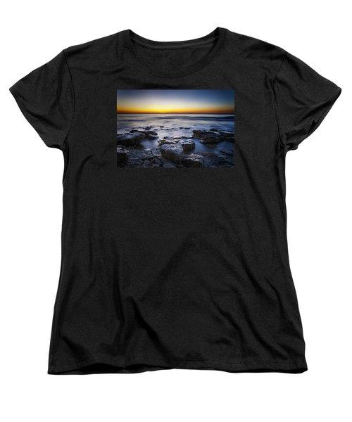 Sunrise At Cave Point Women's T-Shirt (Standard Cut) by Scott Norris