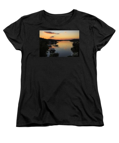 Sunrise At Lake Of The Ozarks Women's T-Shirt (Standard Cut) by Dennis Hedberg
