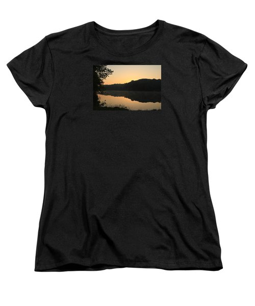 Women's T-Shirt (Standard Cut) featuring the photograph Sunrise At Rose Lake by Julie Andel