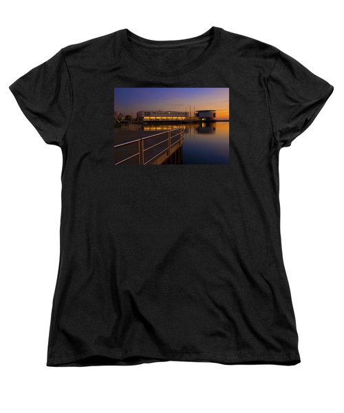 Sunrise At The Lakefront Women's T-Shirt (Standard Cut) by Jonah  Anderson