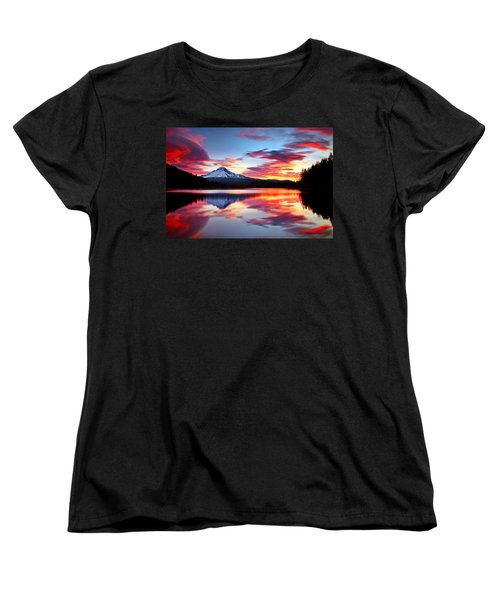 Sunrise On The Lake Women's T-Shirt (Standard Cut)