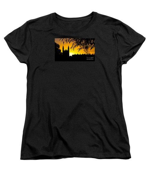 Sunrise Over Cambridge Women's T-Shirt (Standard Cut) by David Warrington